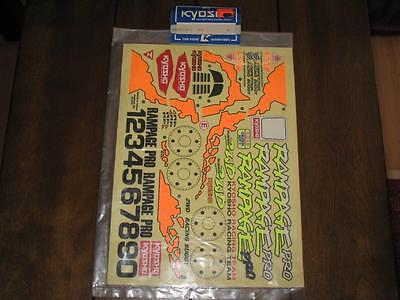 Kyosho XR59 XR-59 KYDC3172 Rampage Pro Vintage Decal Sheet 2WD Nitro Buggy RC