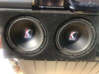 Alpine DVD/Amplifier & Kicker subwoofers