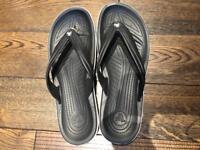 Men's Crocband Flip Flops Black Size 10/11 NEW