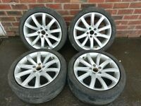 Audi A4 Set of Alloy Rims and Tyres (F12)
