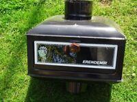 Erendemir solid fuel stove inline oven