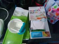 Munchkin food slocer + steamer, masher and ice cube trays