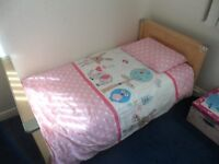 Childs Bed and Bedding