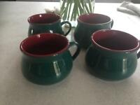 4 soup cups, new