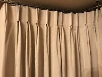 *Reduced* John Lewis Silk Curtains (Champagne / Beige Colour)