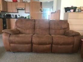 3+2+1 seater reclining sofas