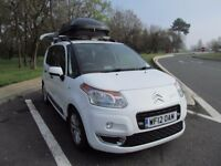 Citroen C3 Picasso Exclusive 1.6 HDi one previous owner 58000 miles, white, Full Service History.