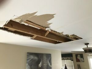 All Drywall Repairs~ Damage Hole,, Water Leak, Smooth, Removal+