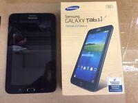 Samsung galaxy tab3V wifi & sim Unlocked 8gb, Android black color brand new
