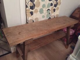 Wooden antique Dairy table