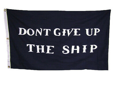 3x5 Embroidered Commodore Perry Don't Give up Ship #2 100% Cotton Flag 3'x5'