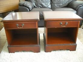 2 Bedside tables, solid wood £25 ono
