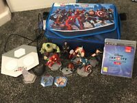 Disney infinity for PS3 with characters and bag