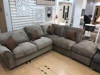 Brown / Mink Corner Sofa