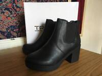 Black Heeled Boots Size 5.5/6 Brand New With Box