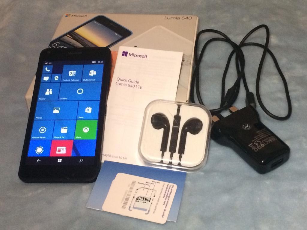 Microsoft Lumia 640 LTE Lock to o2 Network £65 ONO