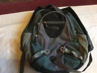 Jeep airflow backpack black green used good condition £5