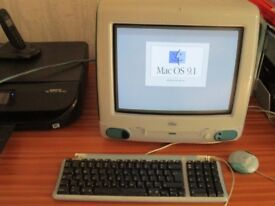 Apple iMac G3 Vintage Retro Computer 1998 Excellent Condition + Keyboard & Mouse
