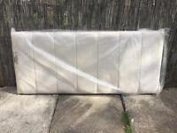 Double bed headboard faux suede