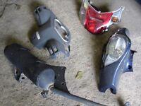 Honda Dylan ,NES,FES,PES exhaust ,panel,engine,fork,tyre ,wheel ,headlight ,seat,clutch,speedo