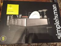 Simplehuman steel dish and glass drainer. Brand new. Still in box. 25% discount to retail price