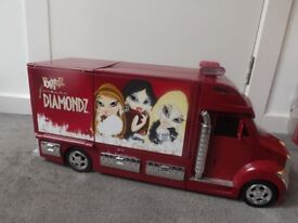 Bratz Truck and Fashion Runway with dolls and outfits as seen