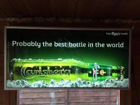 Carlsberg illuminated bar sign