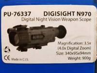 Rifle scope night vision