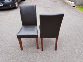 Brown Faux Leather Mid/High Back Chairs FREE DELIVERY 835