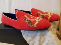 Billionaire Red Suede Slip on Loafers