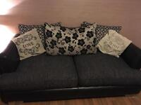 Dfs 3 seater and 2 seater settee