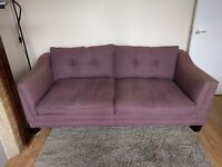 Long purple sofa