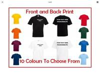 Personalised Work Wear, Uniform, T Shirt design, Your design, Stag Do, Hen Party