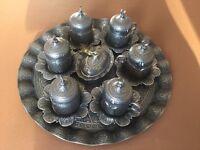 Six piece Portland Turkish Coffee Set