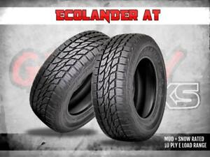 NEW ECOLANDER AT 10 PLY E LOAD RANGE TIRES !!! MASSIVE TIRE SALE !!!