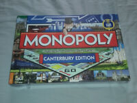 Monopoly board game Canterbury edition with Rochester Castle on it (Brand new still sealed)