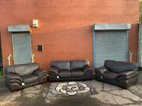 Real leather Italian sofa set delivery 🚚 sofa suite couch furniture