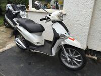 2013 Piaggio Liberty 125cc Moped White 13K Miles Tax'd & Mot'd