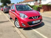 2014 NISSAN MICRA 1.2 ACENTA AUTO 5DR,3000 MILES ONLY,1 OWNER,NEW MOT AND SERVICE DONE,BARGAIN.
