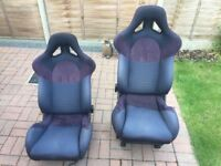 Pair of VW T5 transporter racing/bucket seats taken out of our 2005 T5 campervan.