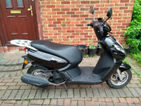 2014 Peugeot Kisbee 100 automatic scooter, 10 months MOT, good runner, FREE NEW XL HELMET, not 125 ,