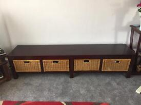 Mahogany Wood Drawer Unit