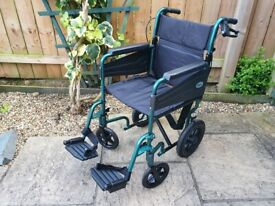 As New Ultra Lightweight Aluminium Wheelchair - Handle Bar Brakes - Days Escape Lite Wheel chair