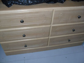 Chest of Drawers x 6 and matching Wardrobe For Sale!