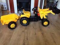 SOLD-kids JCB digger/tractor ride on for sale