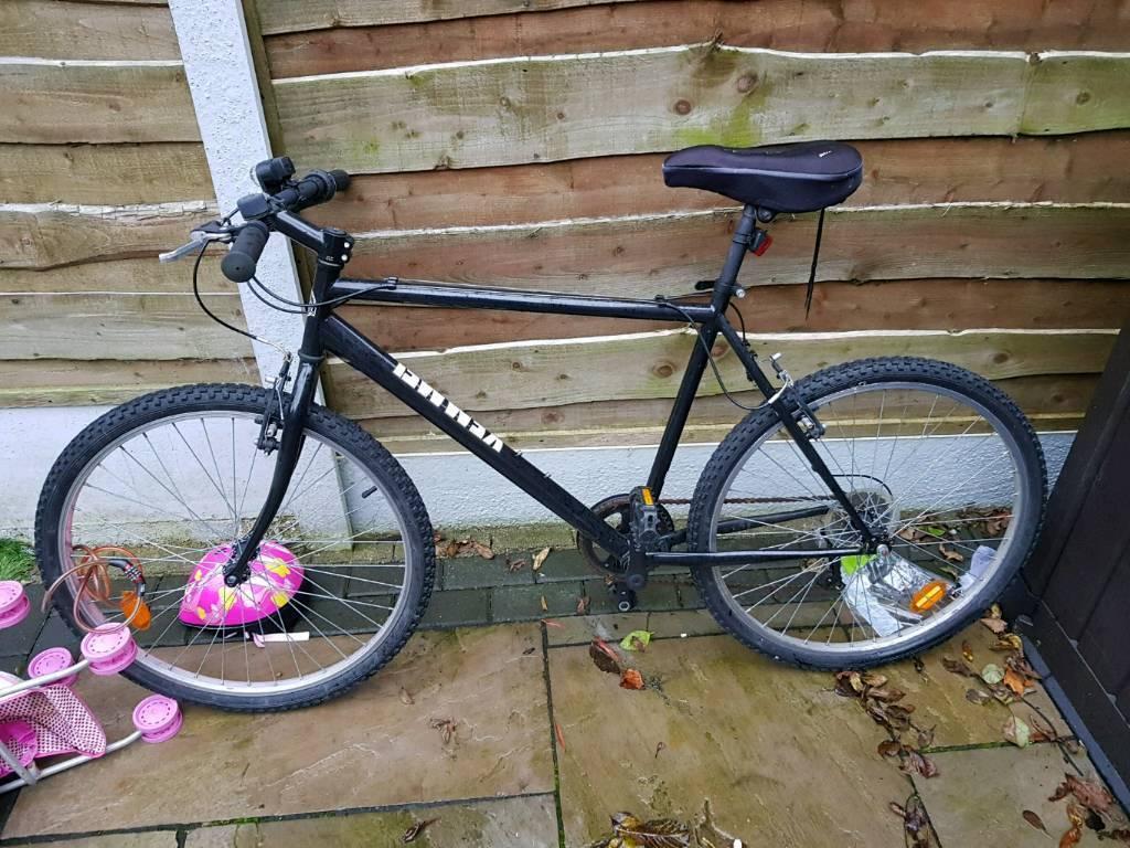 Mountain bike hardly used