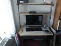 Ikea computer desk with shelves.