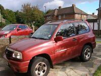Suzuki grand vitara 2001 MOT to 17nov2016.Manual.For repair or breaking for parts