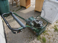 ATCO BALMORAL PETROL CYLINDER MOWER COMPLETE WITH SCARIFIER FITMENT IN YEOVIL