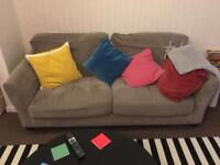 Super comfy plush grey Debenhams double sofa
